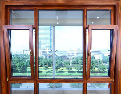 aluminum and wood composed efficient energy saving flat open inner reverse window